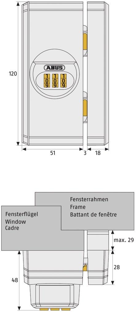 abus fenster zahlenschloss fts106 homeelectric. Black Bedroom Furniture Sets. Home Design Ideas