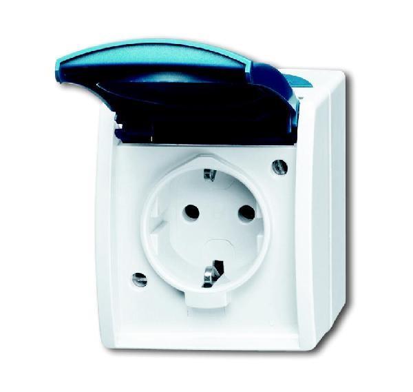 busch jaeger ap fr steckdose 20 ew 53 homeelectric. Black Bedroom Furniture Sets. Home Design Ideas