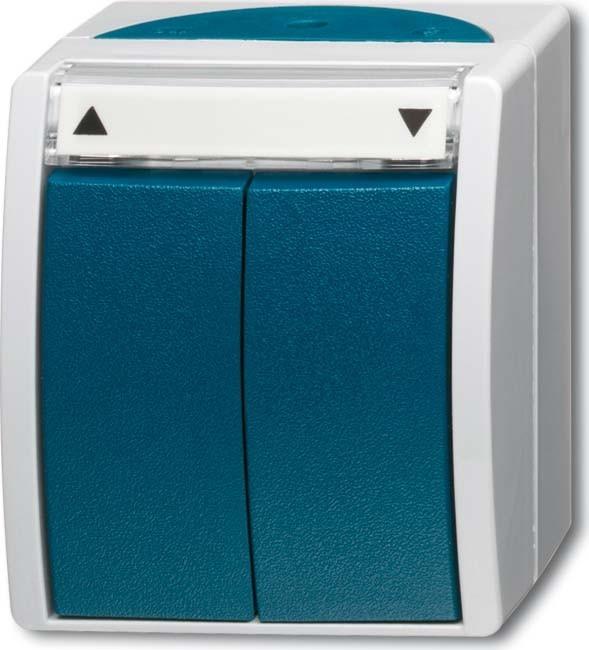 busch jaeger ap fr jalousieschalter 2601 4 w 53 homeelectric. Black Bedroom Furniture Sets. Home Design Ideas