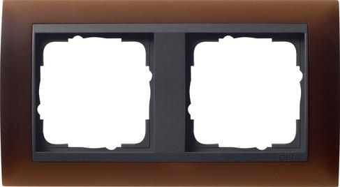 gira abdeckrahmen 2f zwischenr an gira event opak dklbraun 021213 homeelectric. Black Bedroom Furniture Sets. Home Design Ideas