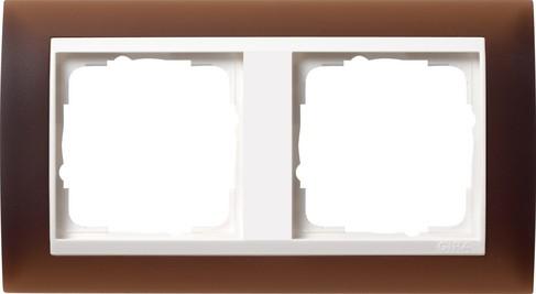 gira abdeckrahmen 2f zwischenr rw gira event opak dklbraun 0212331 homeelectric. Black Bedroom Furniture Sets. Home Design Ideas