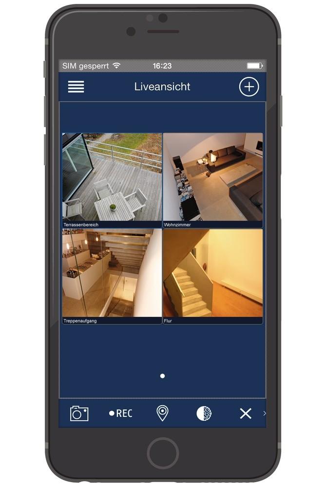 abus video berwachungsset digitalrekorder 4 au en kameras tvvr30404 homeelectric. Black Bedroom Furniture Sets. Home Design Ideas