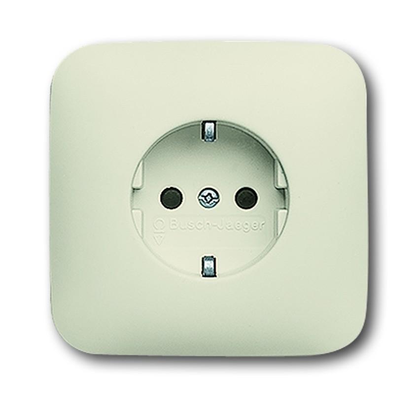 busch j ger schuko unterputz steckdose 20 euj 212 homeelectric. Black Bedroom Furniture Sets. Home Design Ideas