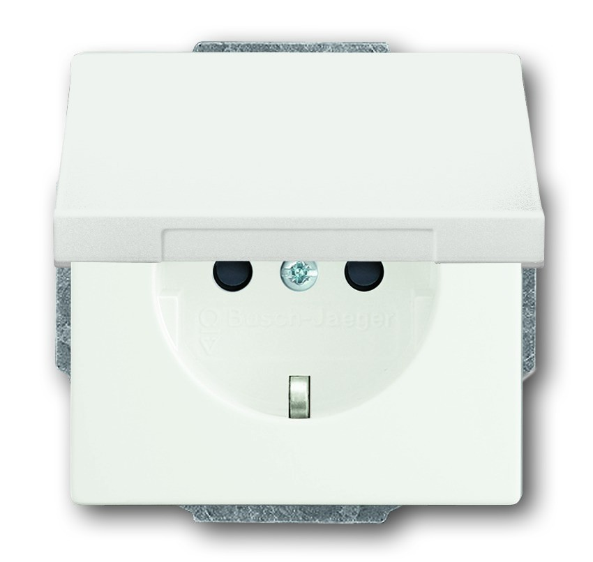 busch j ger schuko steckdosen einsatz 20 euk 884 homeelectric. Black Bedroom Furniture Sets. Home Design Ideas