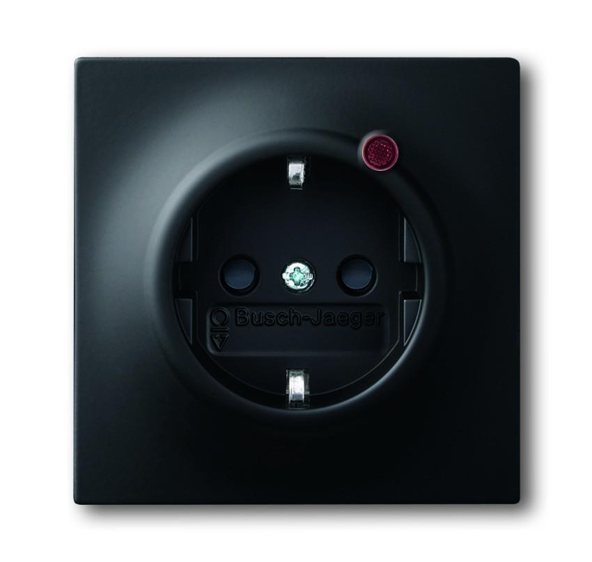 busch j ger busch protector schuko steckdosen einsatz 2310eugl va 775 11 homeelectric. Black Bedroom Furniture Sets. Home Design Ideas