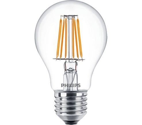 Philips Classic LEDbulb klar 7,5-60W 827 E27 A60 FIL LED Lampe ...