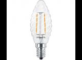 Philips Classic LEDcandle klar 2,3-25W 827 E14 BW35 FIL LED Lampe