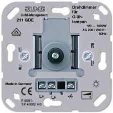 JUNG Drehdimmer mit Druck-Wechselschalter 211GDE