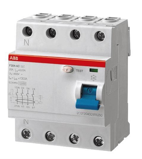 ABB Fehlerstrom-Schutzschalter F204A-25/0,03 2CSF204101R1250