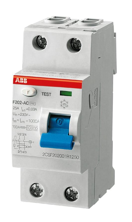 ABB Fehlerstromschutzschalter F202A-16/0,01 2CSF202101R0160