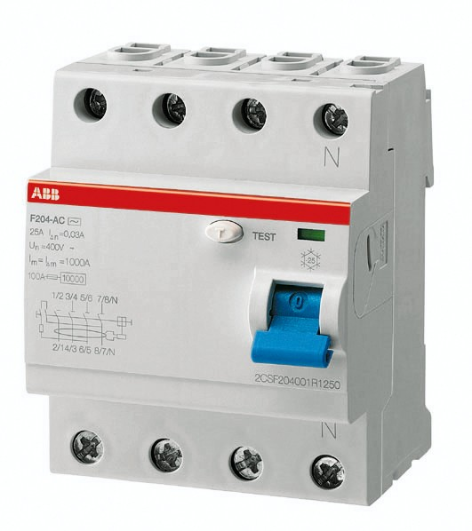 ABB Fehlerstrom-Schutzschalter F204A-40/0,03 2CSF204101R1400