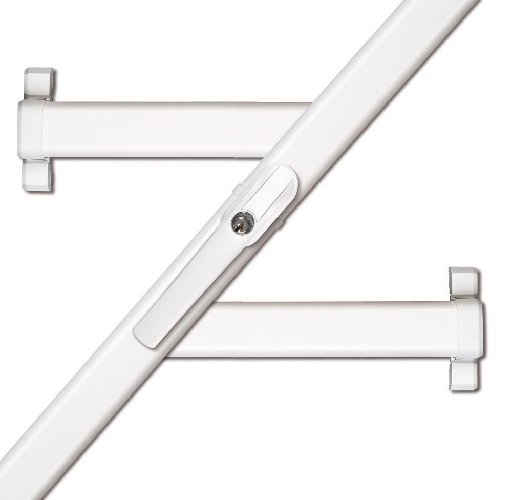 ABUS Secvest Funk-Fensterstangenschloss FOS 550 E - AL0125 weiss FUFT50031W