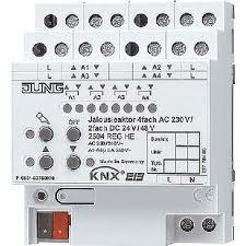 JUNG Jalousieaktor 4fach AC 110-230 V, 2fach 2504REGHE