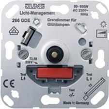 JUNG Drehdimmer mit Druck-Wechselschalter 266GDE