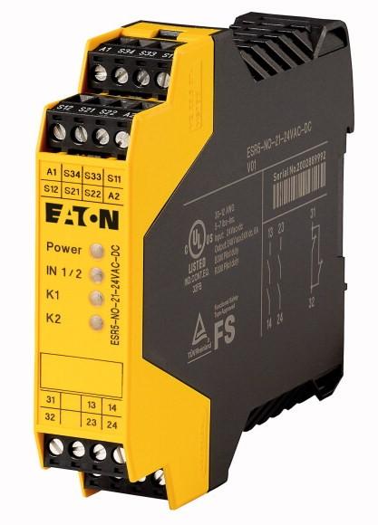 Eaton Sicherheitsrelais zur NOT-HALT-/Schutztür-Überwachung 24VDC/AC 2 Freigabepfade ESR5-NO-21-24VAC-DC