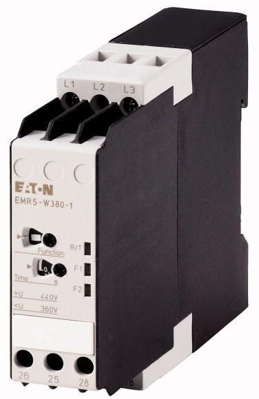 Eaton Phasenwächter Über- Unterspannung 2 W 380V 50/60 Hz tv = 01 - 30 s EMR5-W380-1
