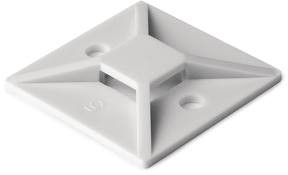 Hellermann Tyton Klebesockel MB4CAS PA66 Natur in PVC-Box