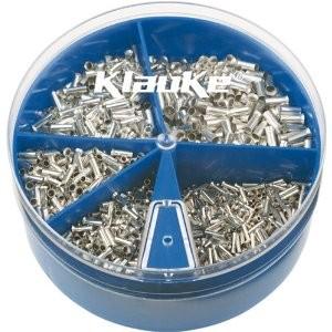 Klauke Streudose mit unisolierten Aderendhülsen 0,50 - 2,50 Qmm