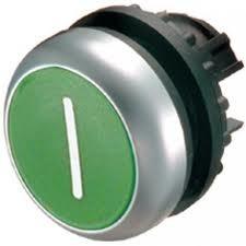 Eaton Drucktaste flach grün I rastend M22-DR-G-X1