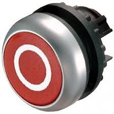 Eaton Drucktaste flach rot 0 tastend M22-D-R-X0