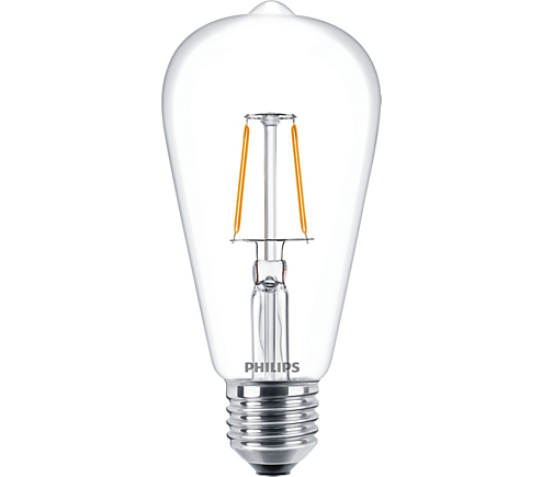 philips classic ledbulb klar 2 3 25w 827 e27 st64 fil led lampe homeelectric. Black Bedroom Furniture Sets. Home Design Ideas