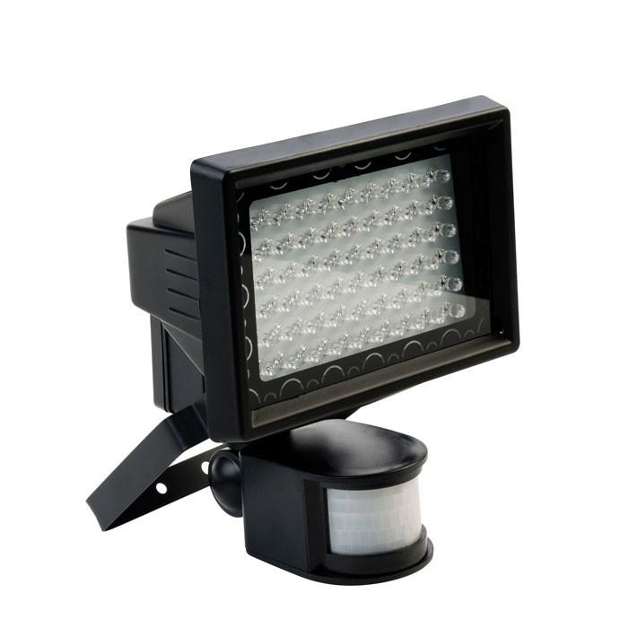 Relco LED Strahler Polifemo 3,6W mit Sensor 125° IP44 schwarz