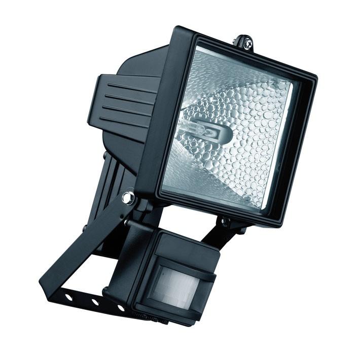 Relco Halogenstrahler Polifemo 400W mit Sensor 125° R7S IP44 schwarz
