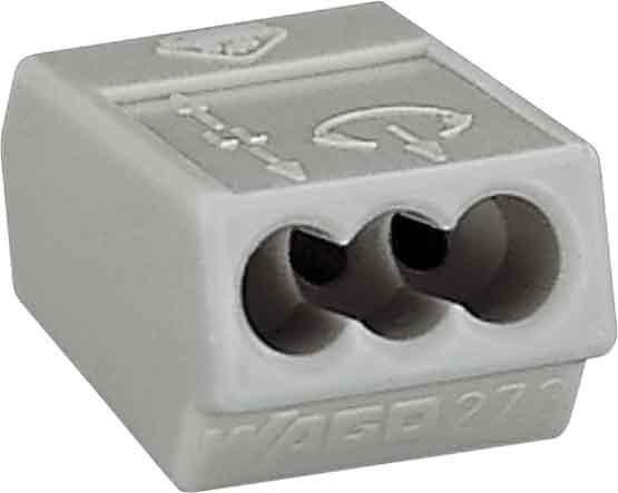 WAGO 3-Leiter Verbindungsdosenklemme 273-100