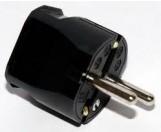 ABL Sursum Schuko Thermoplast-Stecker schwarz 1116-100
