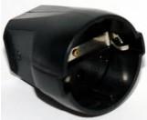 ABL Sursum Schuko Thermoplast-Kupplung schwarz 1176-100
